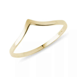Dámský prsten ze zlata v decentním provedení