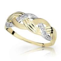 Dámský prsten ze zlata zdobený briliantem