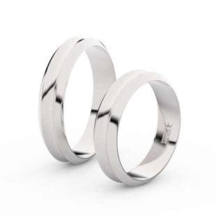 Snubní prsteny z bílého zlata v moderním designu