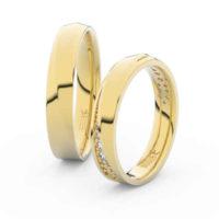 Zlaté snubní prsteny Casting s brilianty