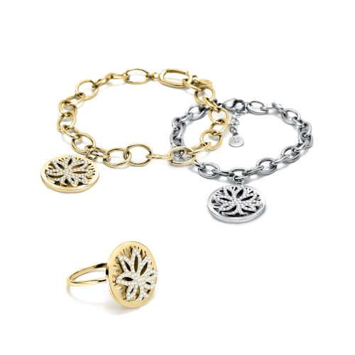 moderní prsten symbolizující Strom života