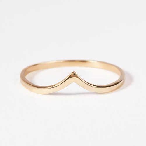 moderní prsten v minimalistickém provedení