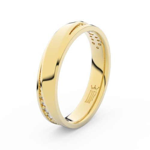 snubní prsteny zdobené briliantem