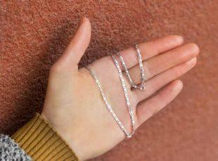 Dámský řetízek vyrobený z kvalitního stříbra