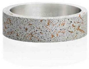 Moderní betonový prsten v jednoduchém designu