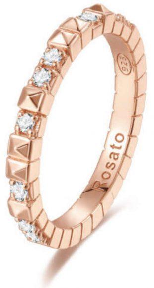 Pozlacený dámský prsten zdobený zirkony