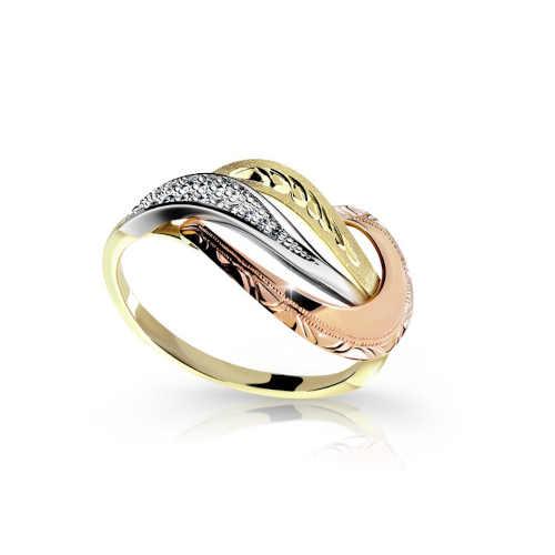 Zlatý dámský prsten v jedinečném designu
