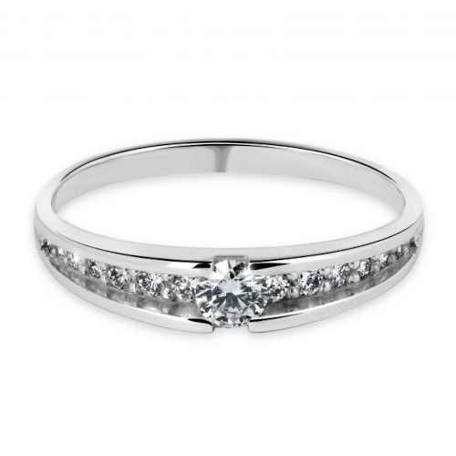 briliantový dámský prsten