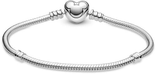 Hravý stříbrný náramek Pandora pro navlékání korálků