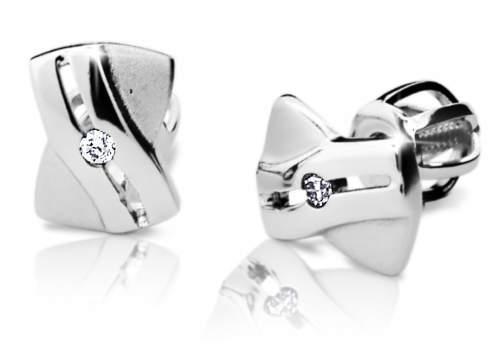 Luxusní zlaté náušnice Danfil Diamonds DF 1628