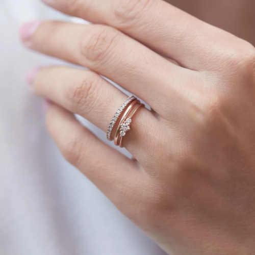 zásnubní prsten růžové zlato