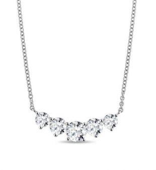 Diamantový náhrdelník z bílého zlata