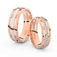 Snubní prsteny z růžového zlata v originálním provedení
