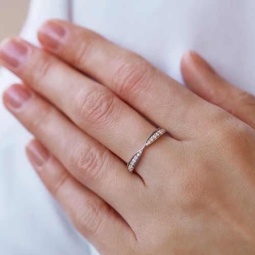 diamantový dámský prsten z bílého zlata
