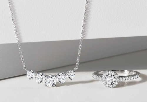 náhrdelník dámský zlatý s diamanty