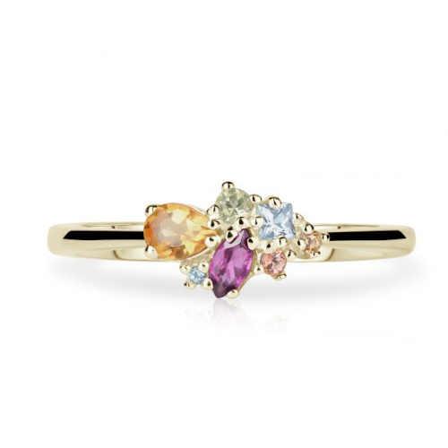prsten s kameny ze zlata