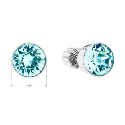 náušnice s modrým krystalem
