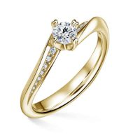 prsten zásnubní ze žlutého zlata